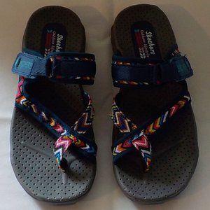Skechers sandals sz 6 M blue NWOB
